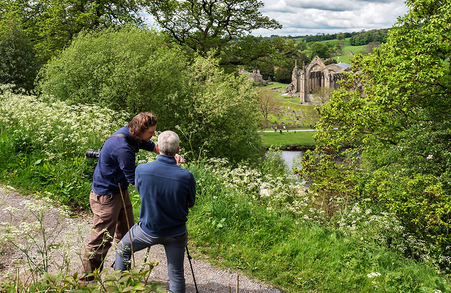 Photographing the Priory Ruins